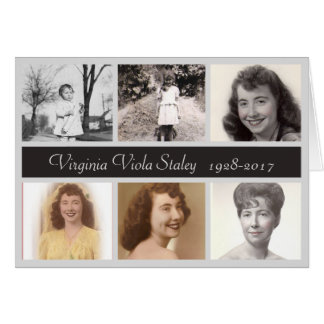 Photo Memorial Thank You Card