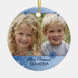 Photo Merry Christmas Grandma Ornament