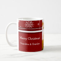 Photo Merry Christmas Grandparents Mug