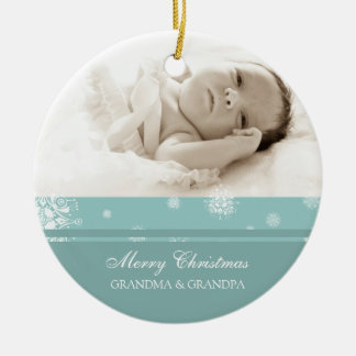 Photo Merry Christmas Grandparents Ornament
