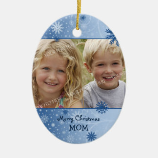 Photo Merry Christmas Mom Ornament