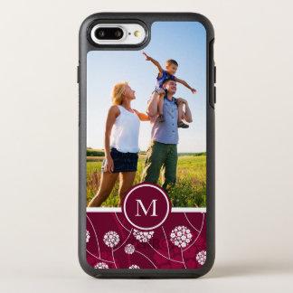 Photo & Monogram Abstract floral pattern OtterBox Symmetry iPhone 8 Plus/7 Plus Case