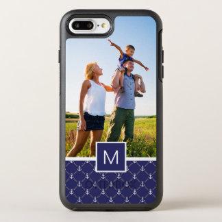 Photo & Monogram Anchor pattern OtterBox Symmetry iPhone 8 Plus/7 Plus Case