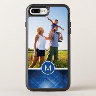 Photo & Monogram blue hi-tech background OtterBox Symmetry iPhone 8 Plus/7 Plus Case