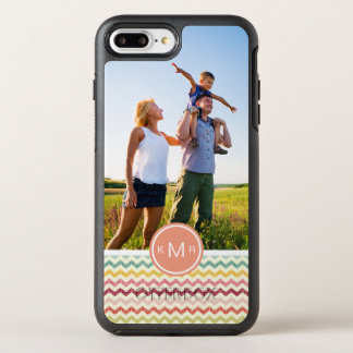 Photo & Monogram Chevron Pattern 4 OtterBox Symmetry iPhone 8 Plus/7 Plus Case