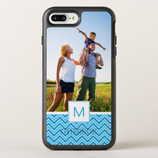 Photo & Monogram Chevron Pattern Background OtterBox Symmetry iPhone 7 Plus Case