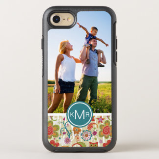 Photo & Monogram Color Floral and Owl OtterBox Symmetry iPhone 8/7 Case