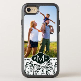 Photo & Monogram Damask OtterBox Symmetry iPhone 8/7 Case