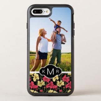 Photo & Monogram Elegant floral pattern 2 OtterBox Symmetry iPhone 8 Plus/7 Plus Case
