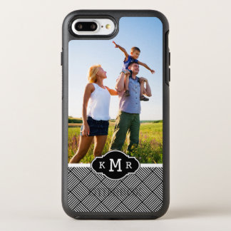 Photo & Monogram Geometric checked texture OtterBox Symmetry iPhone 8 Plus/7 Plus Case