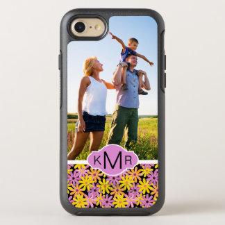 Photo & Monogram Gerbera flowers pattern OtterBox Symmetry iPhone 8/7 Case
