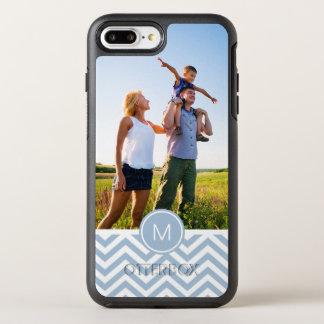Photo & Monogram Light Blue Chevron OtterBox Symmetry iPhone 8 Plus/7 Plus Case