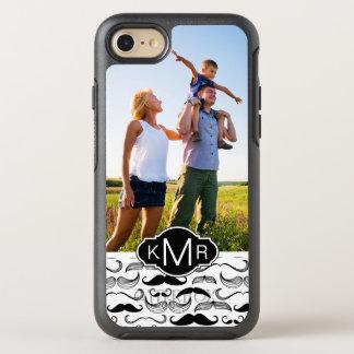 Photo & Monogram Mustache pattern 2 OtterBox Symmetry iPhone 8/7 Case