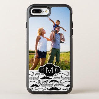 Photo & Monogram Mustache pattern 2 OtterBox Symmetry iPhone 8 Plus/7 Plus Case