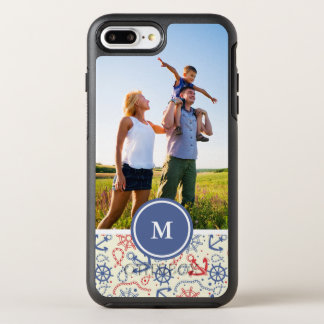 Photo & Monogram Red and Navy with Anchor OtterBox Symmetry iPhone 8 Plus/7 Plus Case