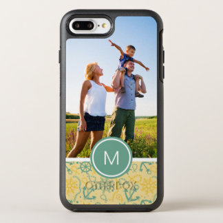Photo & Monogram Retro Anchor & Ropes OtterBox Symmetry iPhone 8 Plus/7 Plus Case