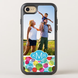 Photo & Monogram Round bubbles pattern 2 OtterBox Symmetry iPhone 8/7 Case