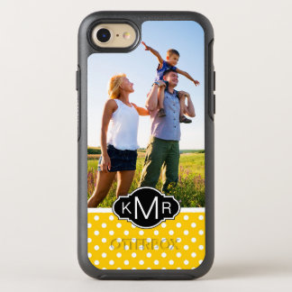 Photo & Monogram Yellow with polka dots OtterBox Symmetry iPhone 8/7 Case