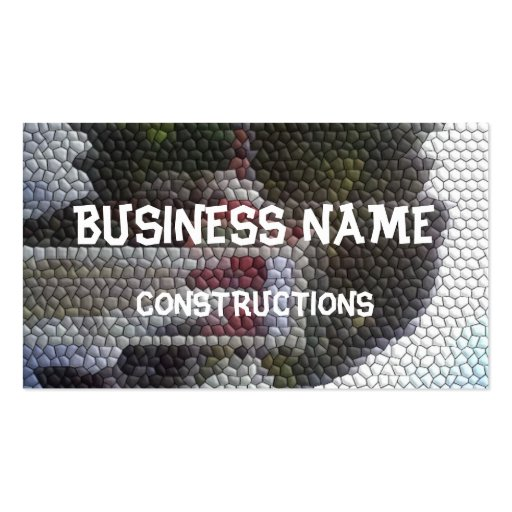 Photo mosaic business card template