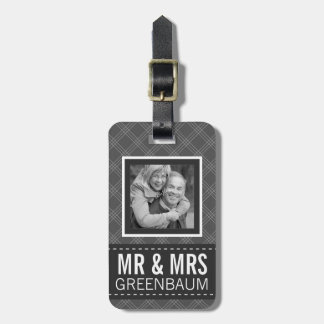 Photo Mr and Mrs Personalized Luggage Tags