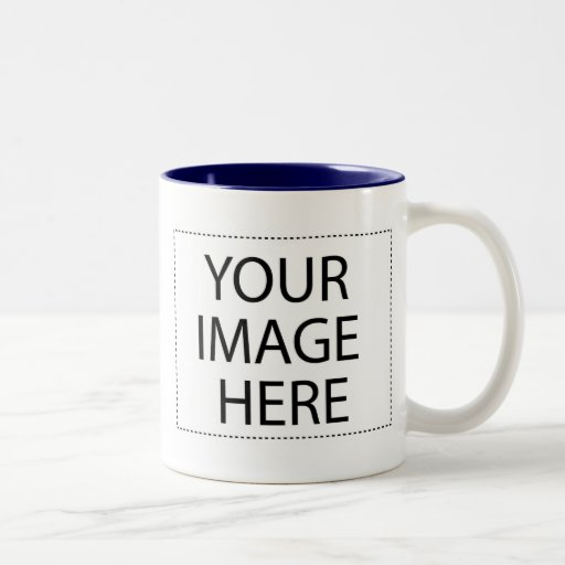 Photo mug - navy blue 11oz template