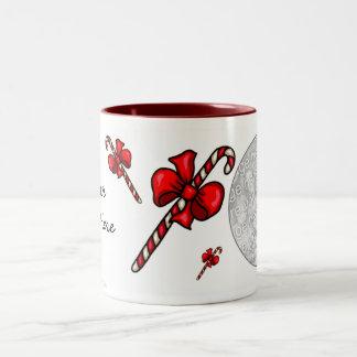Photo Mug Template - Christmas Candy Canes