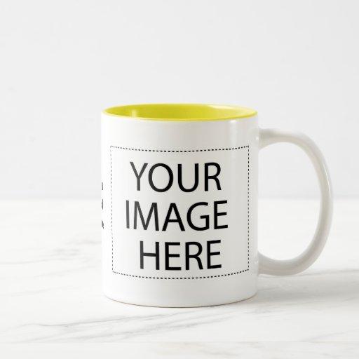 Photo mugs - yellow two tone template 15oz
