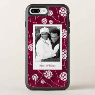 Photo & Name Abstract floral pattern OtterBox Symmetry iPhone 8 Plus/7 Plus Case