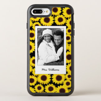 Photo & Name Background with sunflowers OtterBox Symmetry iPhone 8 Plus/7 Plus Case