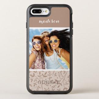 Photo & Name Beige pattern OtterBox Symmetry iPhone 8 Plus/7 Plus Case