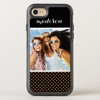 Photo & Name Bright Polka Dot Pattern OtterBox Symmetry iPhone 8/7 Case