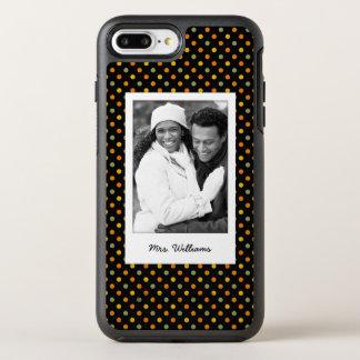 Photo & Name Bright Polka Dot Pattern OtterBox Symmetry iPhone 8 Plus/7 Plus Case