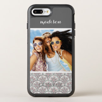 Photo & Name Centle Vintage Pattern OtterBox Symmetry iPhone 8 Plus/7 Plus Case
