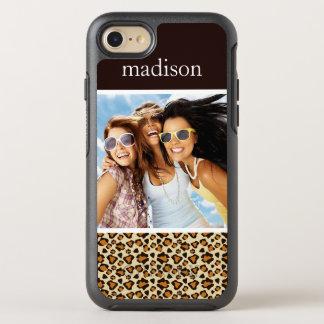 Photo & Name Cheetah skin pattern OtterBox Symmetry iPhone 8/7 Case