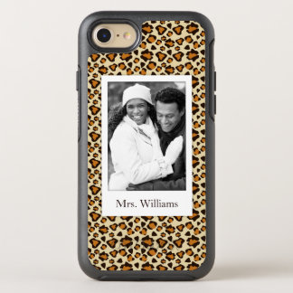 Photo & Name Cheetah skin pattern OtterBox Symmetry iPhone 8/7 Case