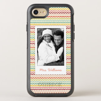 Photo & Name Chevron Pattern 4 OtterBox Symmetry iPhone 8/7 Case