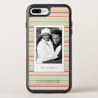 Photo & Name Chevron Pattern 4 OtterBox Symmetry iPhone 8 Plus/7 Plus Case