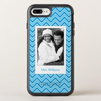 Photo & Name Chevron Pattern Background OtterBox Symmetry iPhone 7 Plus Case
