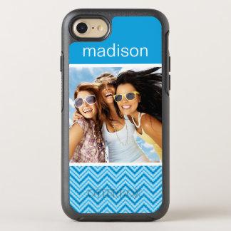 Photo & Name Chevron Pattern Background OtterBox Symmetry iPhone 8/7 Case