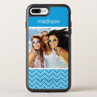 Photo & Name Chevron Pattern Background OtterBox Symmetry iPhone 8 Plus/7 Plus Case