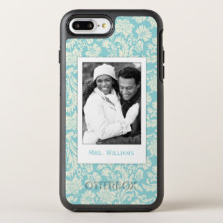 Photo & Name Damask Pattern 3 OtterBox Symmetry iPhone 8 Plus/7 Plus Case