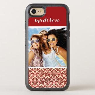 Photo & Name Damask pattern wallpaper OtterBox Symmetry iPhone 8/7 Case