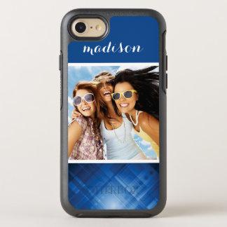 Photo & Name Dark blue hi-tech background OtterBox Symmetry iPhone 8/7 Case