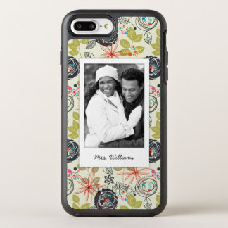 Photo & Name Floral background 3 OtterBox Symmetry iPhone 8 Plus/7 Plus Case
