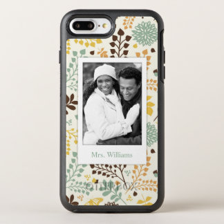 Photo & Name Floral Butterfly Pattern OtterBox Symmetry iPhone 8 Plus/7 Plus Case