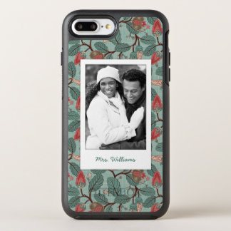 Photo & Name Floral Pattern 12 OtterBox Symmetry iPhone 7 Plus Case