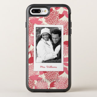 Photo & Name Floral Pattern 8 OtterBox Symmetry iPhone 7 Plus Case