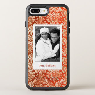 Photo & Name Floral vintage wallpaper OtterBox Symmetry iPhone 7 Plus Case