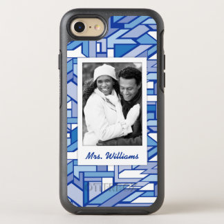 Photo & Name Geometric pattern 2 OtterBox Symmetry iPhone 8/7 Case