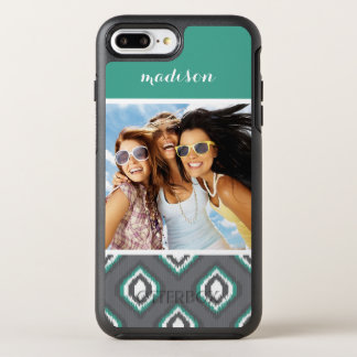 Photo & Name Geometric Retro Ikat Pattern OtterBox Symmetry iPhone 8 Plus/7 Plus Case